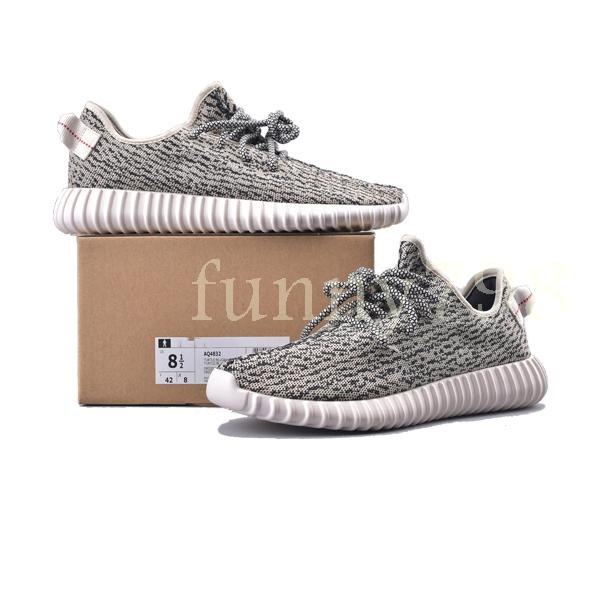 2019 best fashion luxury designer women shoes mens v1 Kanye West pirate black Turtle Dove Moonrock Oxford Tan Wave Runner running sneakers