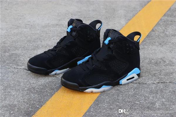 official photos d355d 47fe6 UNC Retro Men Basketball Shoes 6 6s Black Blue Unc Top ...