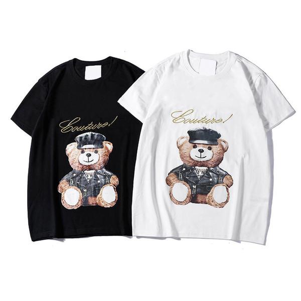Berühmte Marke Herren Designer Kurzarm T-shirt Mode Männer Frauen Casual T-shirt Paare Designer Casual Cartoon Print Tees 2 Farben