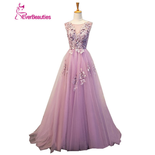Evening Dresses Long Plus Size Tulle Beaded Prom Party Gown Vestidos De Festa Elie Saab Robe De Soiree Abendkleider 2019 Abiye Y19051401