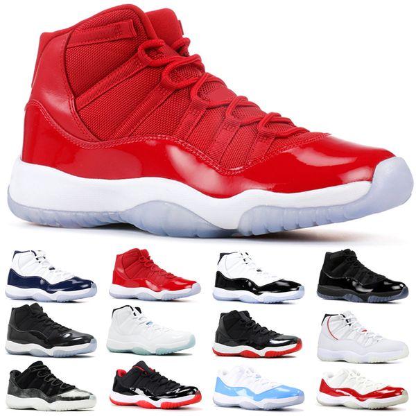 Nike Air Jordan 11 Retro 11 Navy Snakeskin 11s Concord 45 Uomo Donna Scarpe da Basket Rosa Cap and Gown Bred Arancione Trance Designer Sport Trainer Sneakers Taglia 36-47