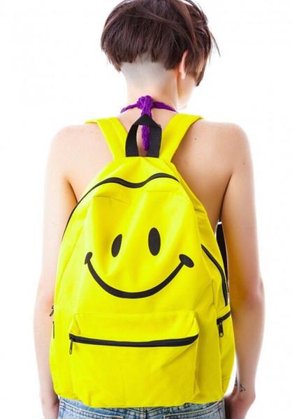 Fashion Emoji Backpacks for Women Girls Kids Emoji School Book Bag Smiley Backpack Smiling Face Day Pack Shoulder Schoolbag Student EMJ015