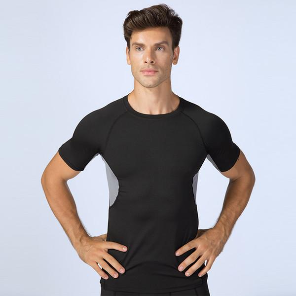 Compre Camisa De Gimnasia Hombres 2019 Camisa Deportiva De Manga Corta O Cuello Correr Fitness Tops Hombre Jogging Camisas De Entrenamiento Ropa