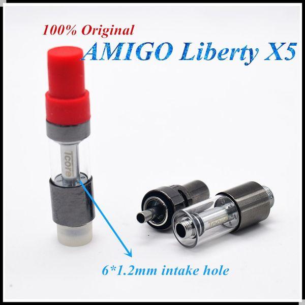 Original Amigo Liberty X5 Oil Cartridges 510 Thread Empty Vape Pen  Cartridges 0 5ml Ceramic Coil Thick Oil Vape Cartridges 6*1 2mm Oil Holes  Creed