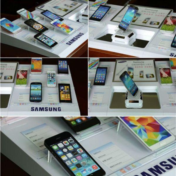 Для Samsung розничный магазин кабинет внутри пустышка мобильный планшетный телефон безопасный дисплей безопасности акриловый держатель лоток