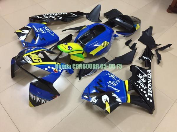 Carenado para CBR600 600 RR CBR600RR 05 06 F5 2005 2006 Inyección ABS Blue Shark F56A125