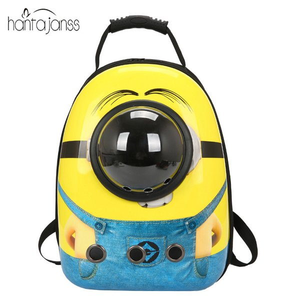 HANTAJANSS Fashion Dog Carrier Bag For Cat Dog Cute Space Transparent Window Backpack Outdoor Hiking Travel Pet Product