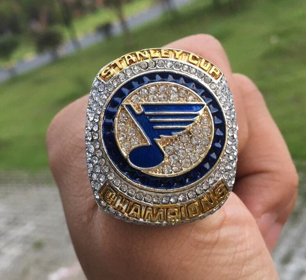 top popular wholesale 2018 2019 St.Louis Blues championship ring Stanley Cup Sport Fan Men Gift Drop Shipping 2020