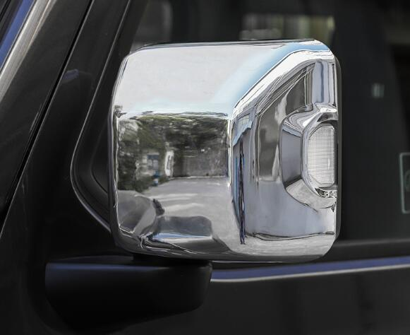 High quality ABS chrome 2pcs car Door Mirror decoration cover,rearview protection protection cap for JEEP COMPASS 2007-2019
