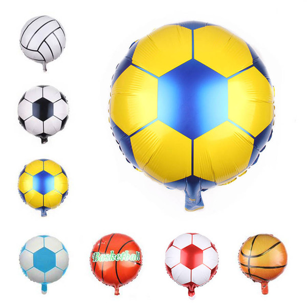 18-Zoll-Basketball Aluminiumbeschichtung Luftballons WM Fußball Bar Party Einkaufszentrum Dekoration Aluminiumfolie Luftballons
