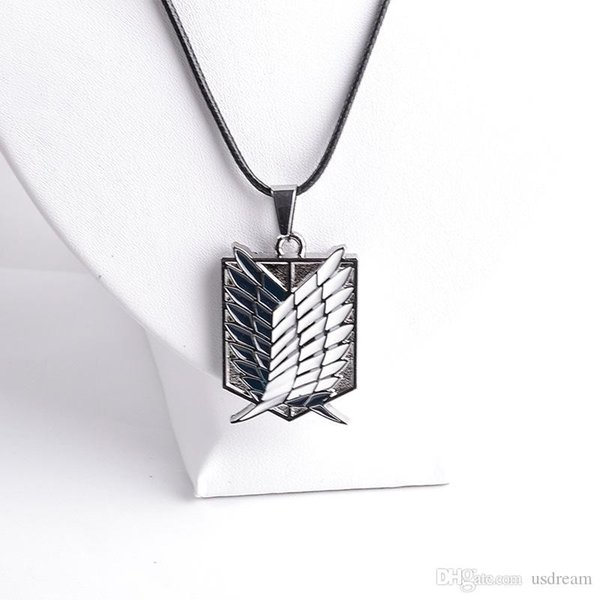 Attack on Titan Jewelry Shingeki no Kyojin Scout Regiment Wings of Liberty bagge pendant Necklace anime jewelry Gift DROP SHIP 161114