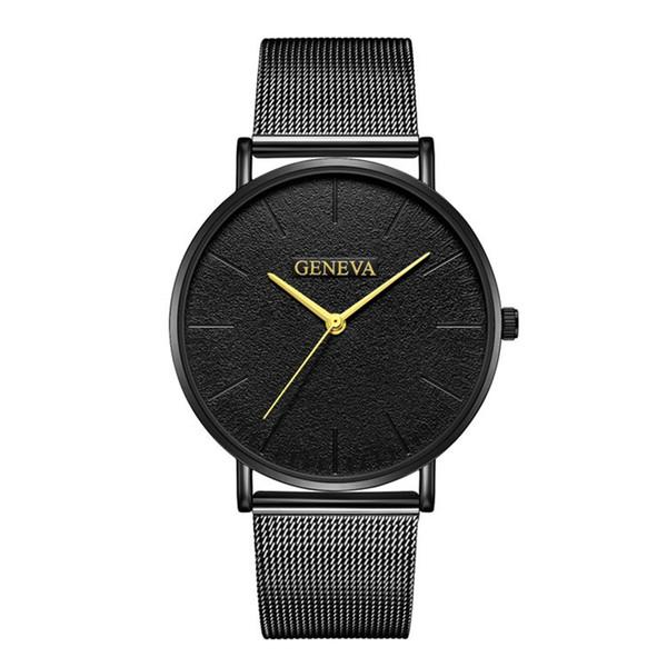 Relogio Masculino Watches Men Sport Stainless Steel Case Band watch Quartz Business Wristwatch reloj hombre Erkek Kol Saati