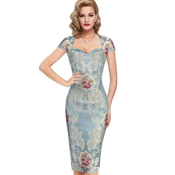 Lcw New Design Womens Sexy elegante 3D Fiore tessuto jacquard casual partito sera madre della sposa vestito occasione speciale aderente