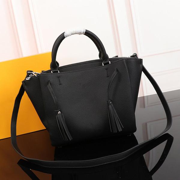 Borsa a tre scomparti classiche borse di lusso di design borse Lichee Modello nappa borsa a tracolla di design grande capacità shopping bag