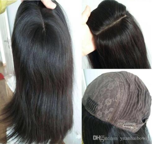Kosher Wigs 10A Grade Black Color #1B Finest Mongolian Virgin Human Hair Silky Straight 4x4 Silk Base Jewish Wig Fast Free Shipping