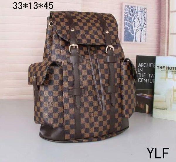 2020 New Unisex men Outdoor Backpack student School Bag Women PU Leather Designer Travel bag shoulder bag