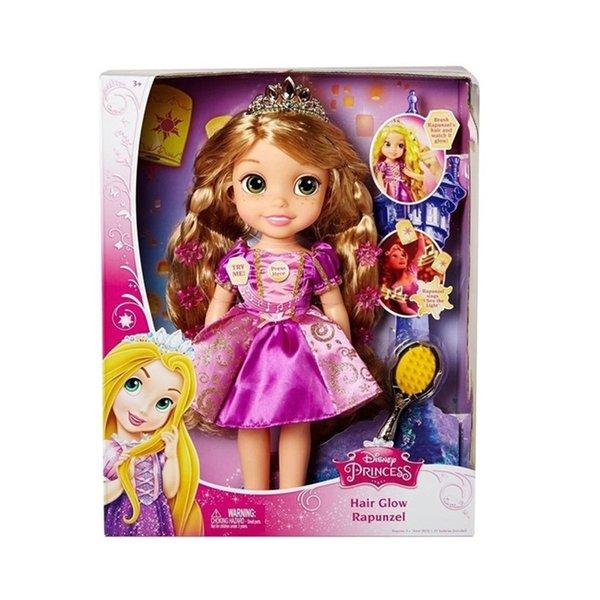 38 * 30.5 * 12 cm Rapunzel Música E Luz Boneca Figuras Dos Desenhos Animados Rapunzel Brinquedo Com Pente Macio Música Stuffed Dolls Presente Toy for Kids mascot