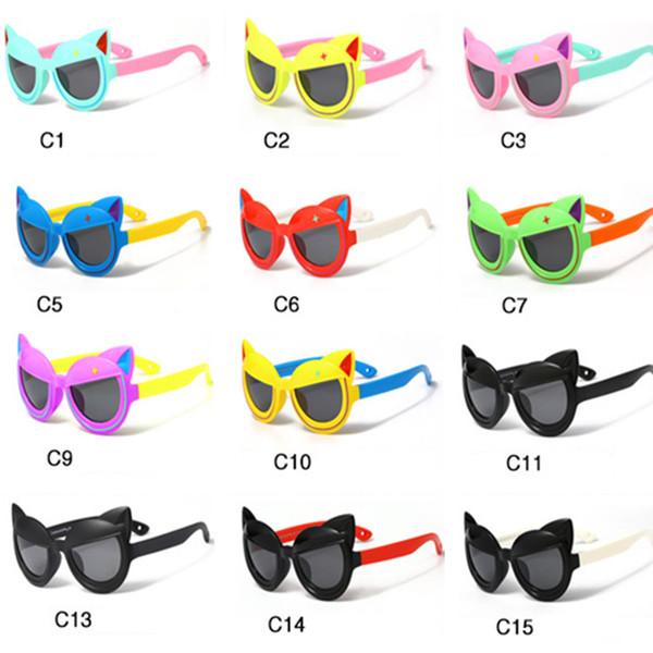 Kids Sunglasses New cartoon Anti-UV Glasses Sunglasses for Baby Boy Girl 3-12T