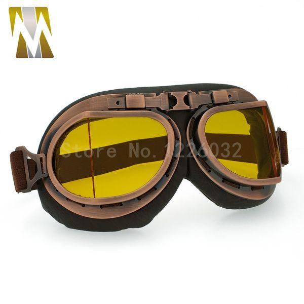 Moto Biker Goggle Casque Lunettes Pour Harley Protecteur Coupe-Vent Anti-UV ABS lentille Multicolore Fumé Clair Argent Jaune