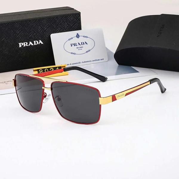 Nuevas gafas de sol de moda para hombre Gafas de sol de lujo Gafas de gafas polarizadas Estilo 8031 UV400 4 colores Opcional Alta calidad con caja