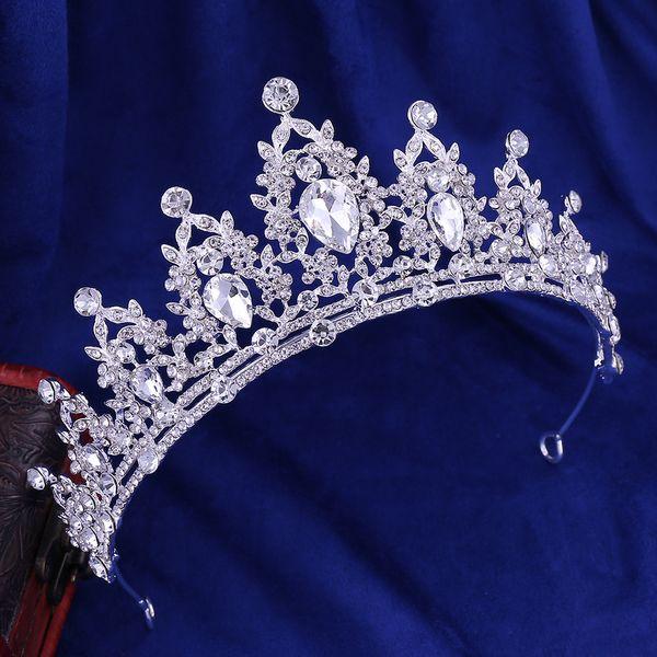 Luxury Bridal Crown Rhinestone Crystals Wedding Queen Crowns Princess Crystal Baroque Birthday Party Tiaras Gold Sweet 16 In Stock 456