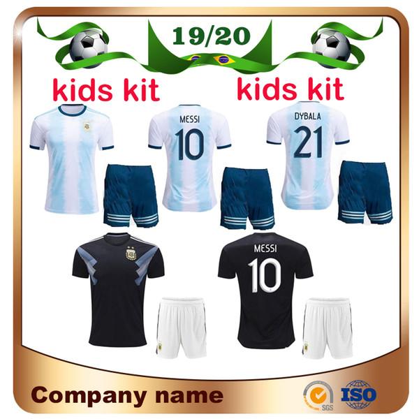 sports shoes 41394 6c767 2019 2019 Copa America Argentina Kids Kit Soccer Jersey 19/20 Home #10  MESSI Child Soccer Shirt DYBALA MARADONA AGUERO HIGUAIN Football Uniform  From ...