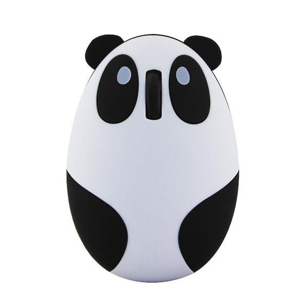 Wireless mouse creative cartoon panda mouse computer accessories wireless charging cute mini mouse optional cable with free shipping