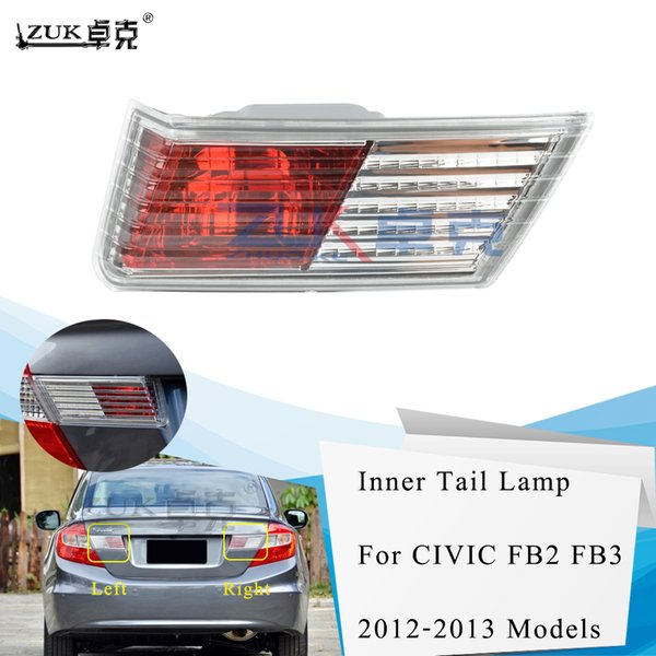 best selling ZUK Car-Styling High Quality Left Right Inner Rear Tail Light Tail Lamp Trunk Lid Lamp For HONDA CIVIC 2012 2013 FB2 FB3