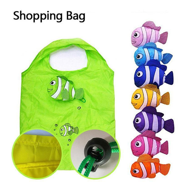Cartoon Foldable Shopping Bag Portable Supermarket Large Storage Eco-friendly Shopping Storage Grocery Bags Folding Recycle Tote