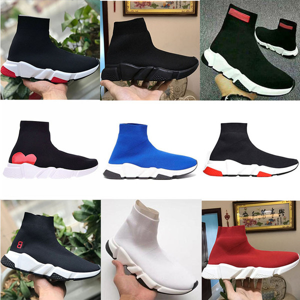 balenciaga Tripoli nero bianco blu scarpe da donna velocità allenatore Oreo piatta moda lusso calzini di marca stivali uomo donna sneakers formato confortevole 36-45