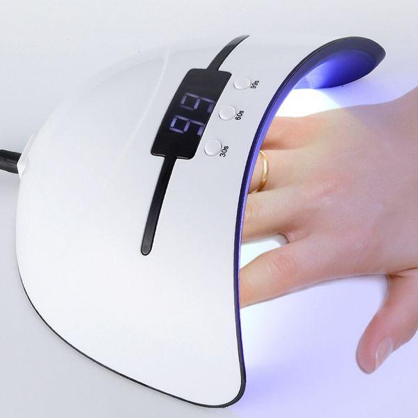 36 W Tırnak Lambası UV Lambası Tırnak Kurutucu Her Türlü Jel 12 Boncuk Led Kızılötesi İndüksiyon için 30/60/99 s Zamanlayıcı Hızla Kuru USB YENI