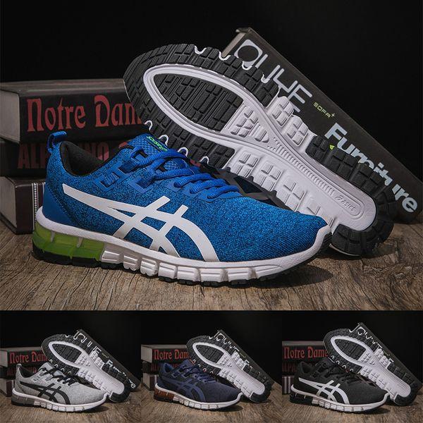 2019 2019 Asics Gel Quantum 90 Men Running Shoes 1022A115 Black White Grey Blue Mens Womens Sport Sneakers Designer Outdoor Shoes 7 11 From Wegosport,