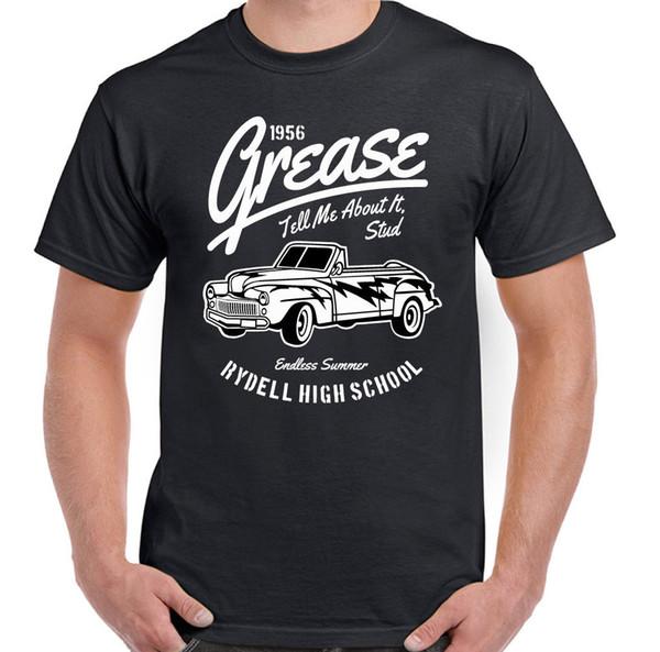 Grease Rydell High School Mens T-Shirt Engraçado Filme T-Aves Veado DooFunny frete grátis Unisex Casual Tshirt top