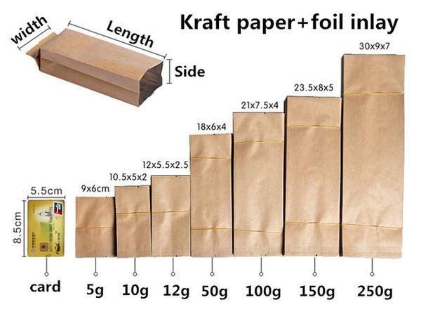 Kraft paper bag - 60x90mm 5g