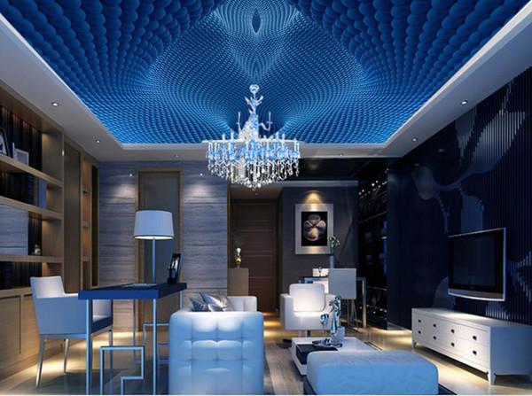Personalizado 3d teto grande parede foto Dinâmico 3d murais de teto para sala de estar 3d papel de parede teto