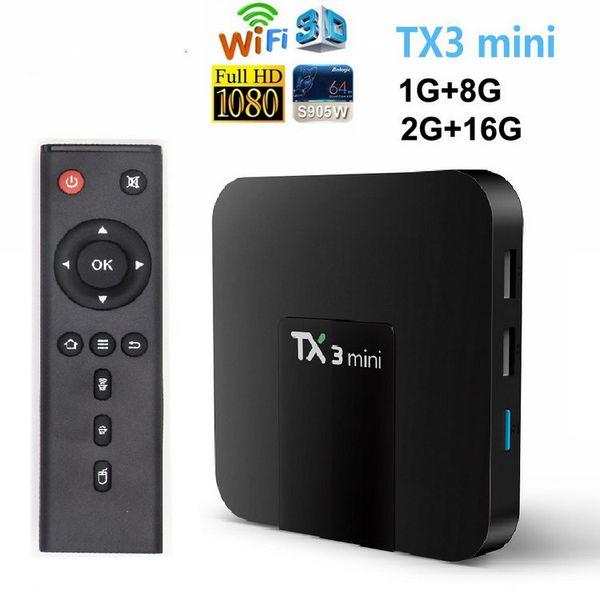 top popular TX3 Mini Android 8.1 TV Box S905W Smart TV Box For 4K Smart Television Caja de TV Android X96 Air TX6 2020