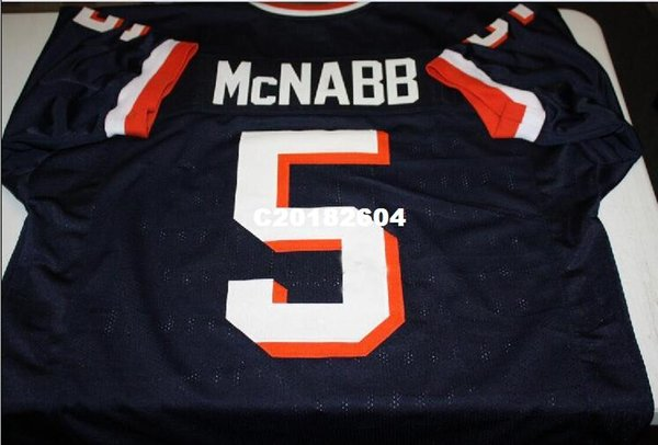 Men SYRACUSE ORANGEMEN DONOVAN MCNABB #5 RETRO JERSEY Full embroidery Jersey Size S-4XL or custom any name or number jersey