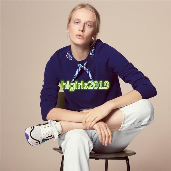 High end mulheres meninas malha camisola de lã cachecol camisolas de gola alta mangas blusa camisa top quality design de moda pulôver de luxo top