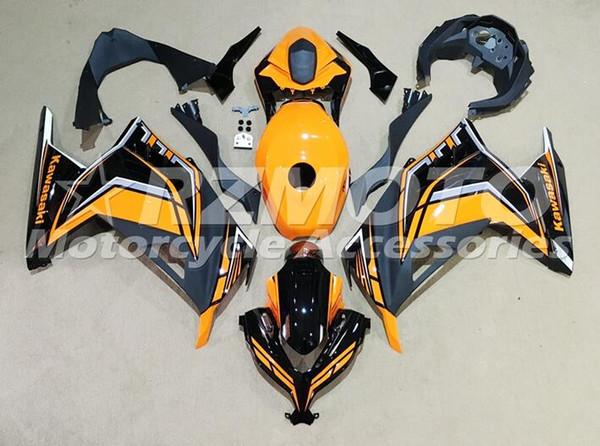 Nuevo kit de carenado de inyección de motocicleta Abs adecuado para kawasaki EX300 2013-2017 Ninja300 13 14 15 16 17 EX300 + Cubierta del tanque personalizada Naranja negro