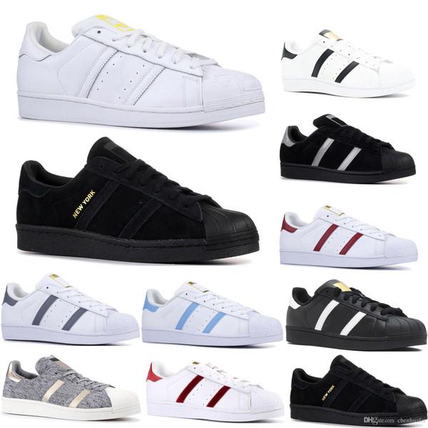 Designer Casual Originals Superstar White Hologram Iridescent Junior Superstars 80s Pride Sneakers Super Star Women Men Sport Shoes 36-45