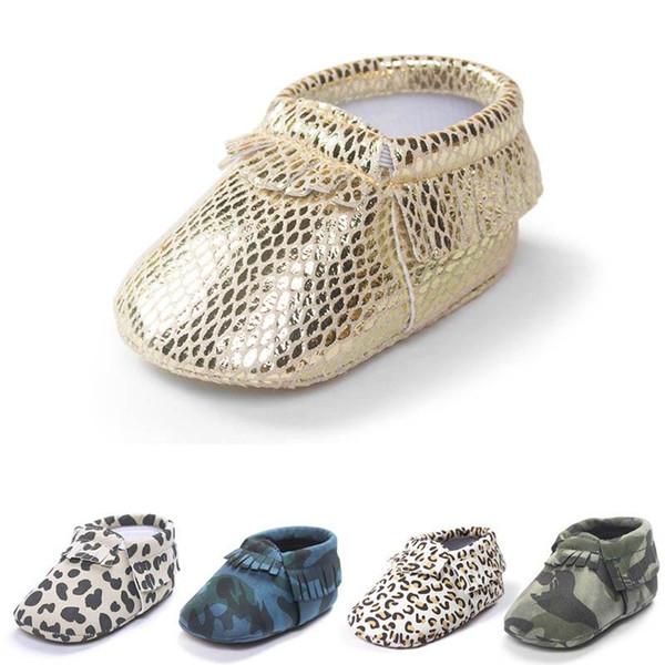 Novo leopardo sapatos de bebê borlas criança sapatos bebê menina sapato bebê menino sapatos Mocassins Macio Primeiro Walker sapato criança sapato desgaste Recém-nascido