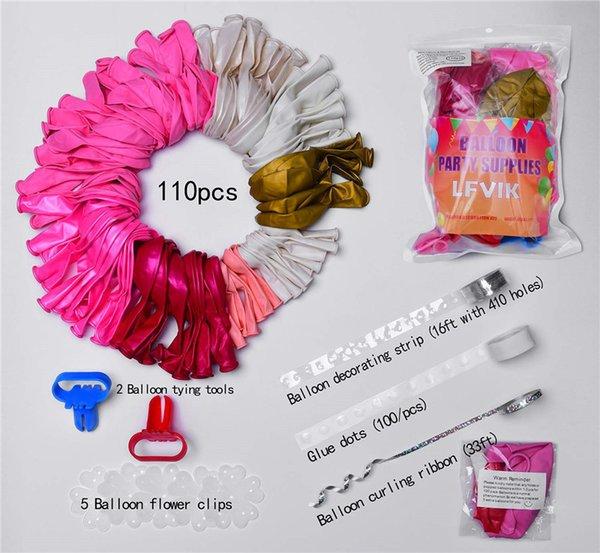 110pcs Pink