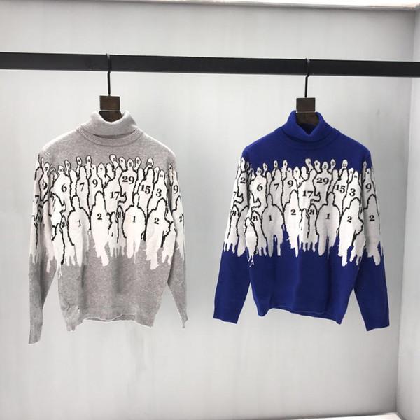 19ss progettista del mens maglioni di lusso Collo M stampa abiti da uomo ponticello Maglia a manica lunga giacca tag superiore di nuovo