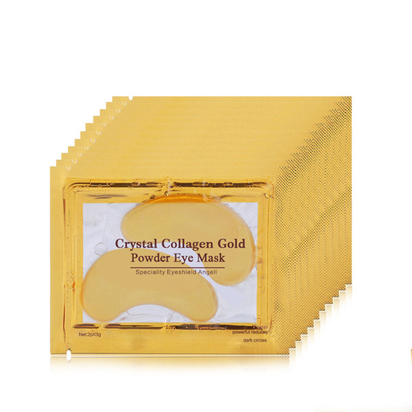 top popular Dropshipping New Collagen Crystal Eye Masks Anti-puffiness moisturizing Eye masks Anti-aging masks collagen gold powder eye mask 2021