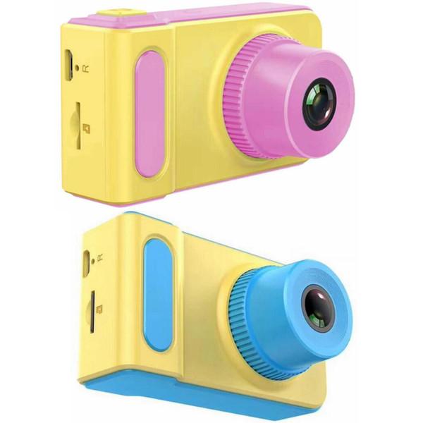 Children Camera Mini Digital Kids Camera Cute Cartoon Camera 1080P Toddler Toy Children Birthday Gift 2 Inch Screen Cam