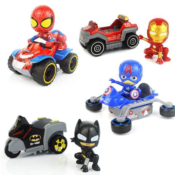 Avengers Metal Pull-back araç Araba Süper Kahraman Çizgi Dönüşüm Oyuncak Spor Otomobil Modelleri Deformasyon Oyuncak Çocuk Hediye çocuk oyuncakları