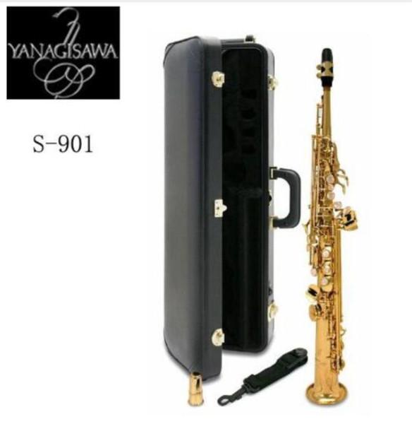 Novo Japão YANAGISAWA S901 Bb saxofone Soprano plana de Alta Qualidade instrumentos musicais YANAGISAWA soprano profissional grátis