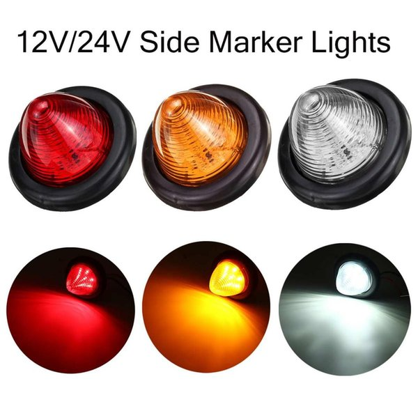 10X 2 LED Red//Amber Side Marker Lights Lamp Trailer Truck Lorry Caravan Van 12V