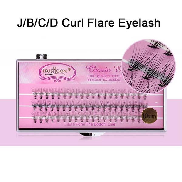 High Quality Eye Lash Individual False Fake 60 Strands J/B/C/D Curl Eyelashes Flare Cluster Lashes