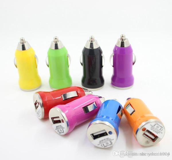 Producto caliente Mini cargador de coche Adaptador de cargador USB para IPOD para Blackberry Batería de carga USB cargador de teléfono universal
